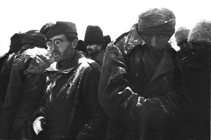 Romanian and German POWs at Stalingrad, 1943
